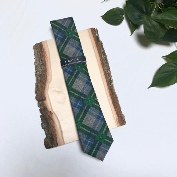 Nautica Other - 🆕 Nautica — Plaid Tie in Green, Blue, & Grey NWT